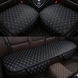 Image 4 - PU Leather Car Seat Cover Universal Auto Interior Car Front Rear Back Cushion Protector Four Season Accessories Interior