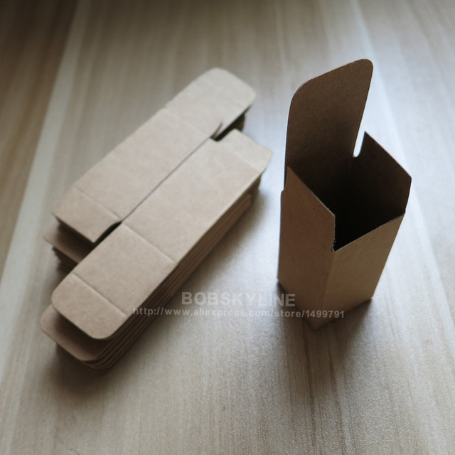 3.1x3.1x8.3cm Black White Kraft Paper Box for sample cosmetics perfume esential oil sprays gift box 100pcs 3