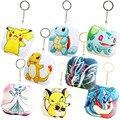 3 unids niños pokemon mullido widgets de jay tortuga juguetes de peluche pikachu de peluche juguetes de los animales para las mujeres colgante del bolso del bebé juguete to24