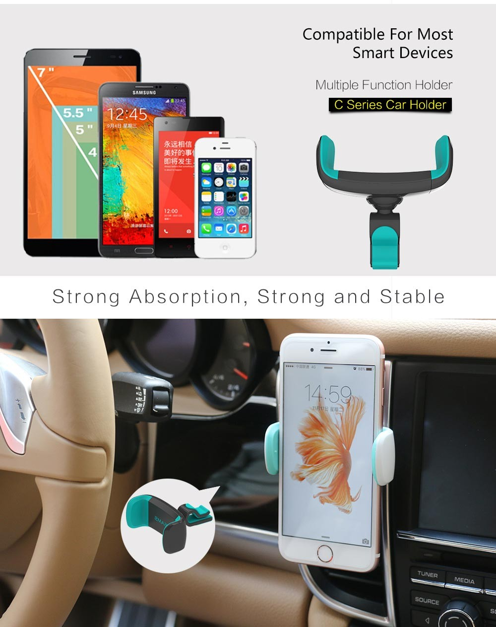 Car Mobile Phone Holder for Iphone 6 (4)