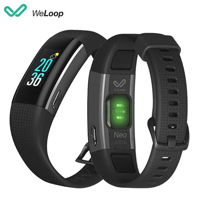Weloop Neo Bracelet intelligent GPS Bracelet 9 axes capteur de mouvement enregistrement tours couleur IPS écran dynamique moniteur de coeur natation Mod