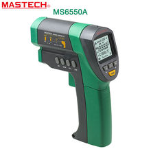 Cheaper Infrared Thermometer  MASTECH MS6550A Auto Range Non-contact Infrared Thermometer IR  Meter Tester -32C~1200C D:S (50:1)