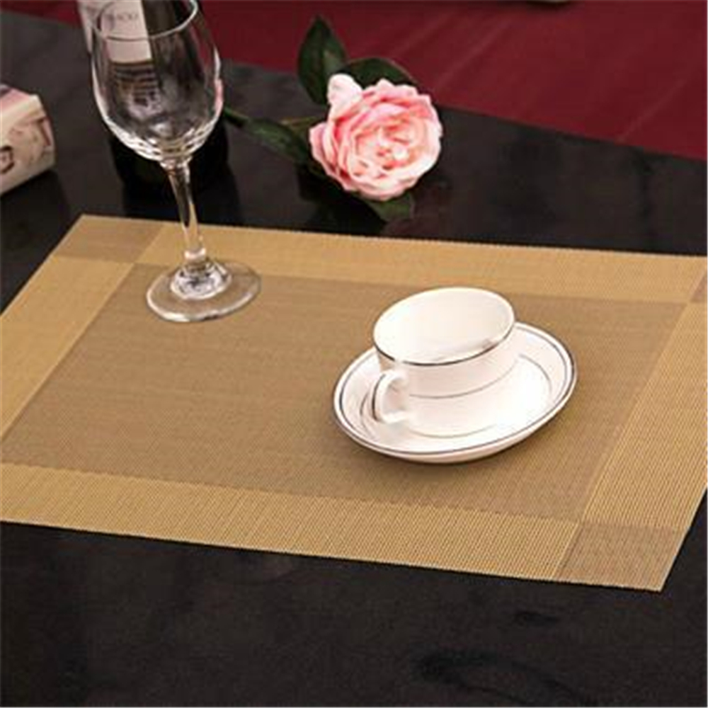 Worthbuy Four Set Pvc Placemat Non Slip Plastic Table Mat