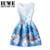 Chicas Vestido de Verano 2016 Niños Vestidos Para Niñas De 12 años Sin Mangas Impreso Tamaño Grande Princesa Vestido de Las Niñas Adolescentes Ropa 16