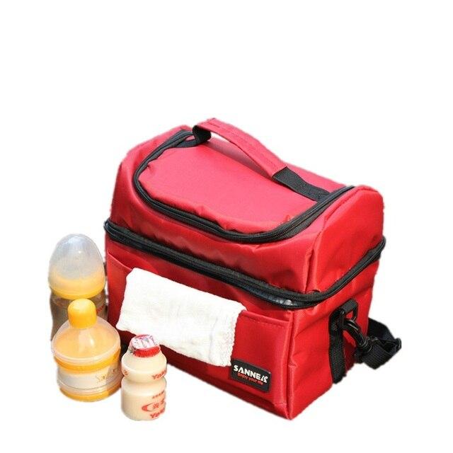 2016 Portable Messenger Picnic Lunch Thermal Bag Oxford Storage Cooler Bag Refrigerator For Keep Breast Milk Fresh Mother's Care