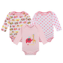 Mother nest Cartoon Infant Bodysuit Long Sleeve Cotton