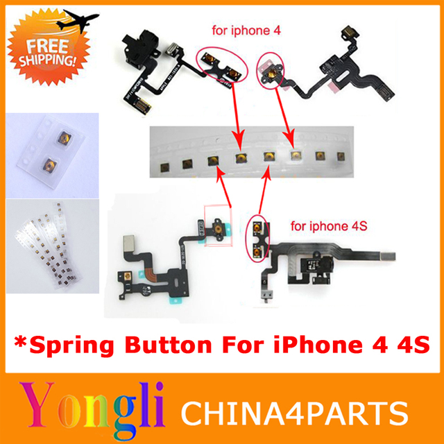 10pcs New Original micro Spring piece Terminal For iPhone 4S 4 Power sleep button Light sensor headphone audio Jack Flex Cable