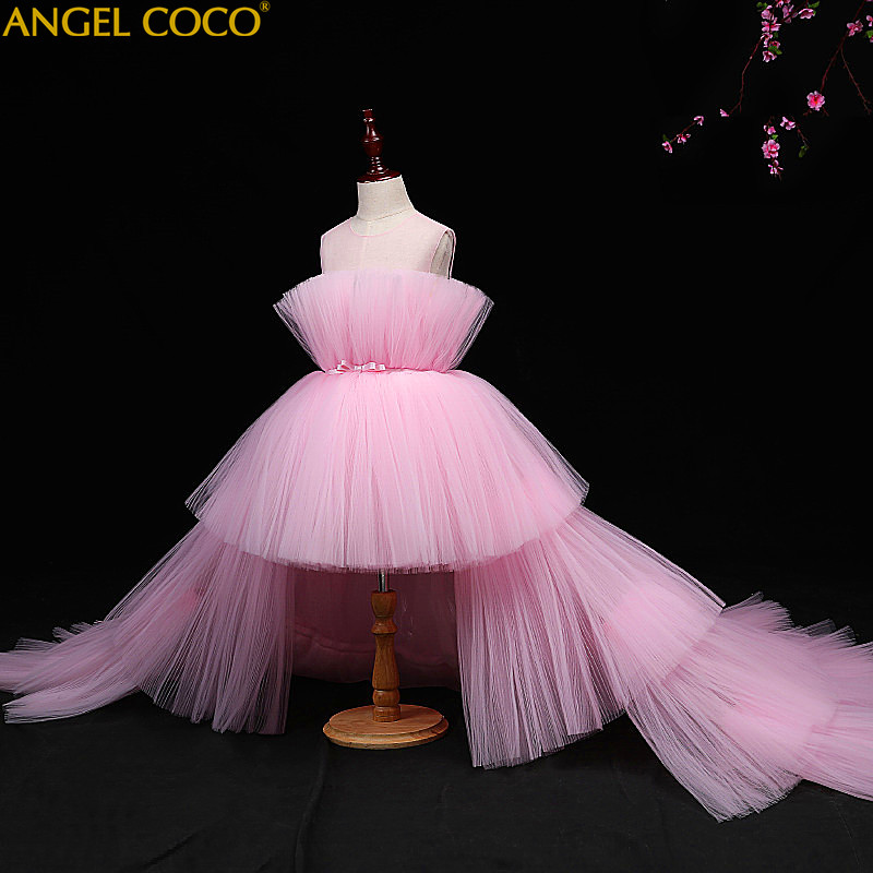 5 14 Years Kids Dress For Girls Wedding Tulle Lace Long Girl Dress Elegant Princess Party Pageant Formal Gown For Teen Children цена