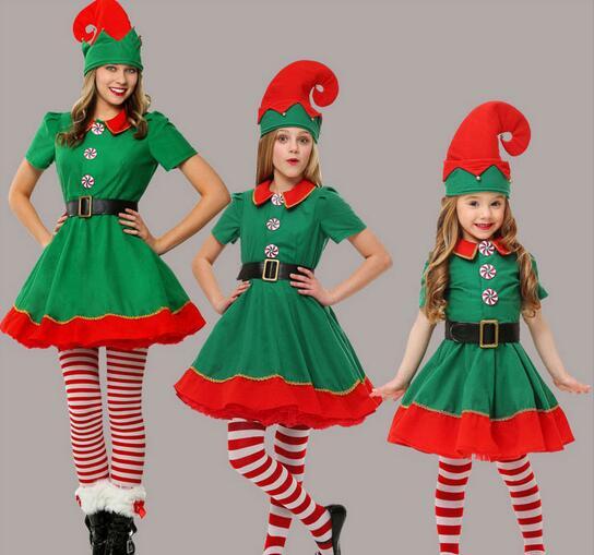 nuevas mujeres de lujo de halloween navidad traje de elfo nia vestido de traje de