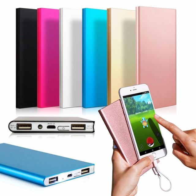 Портативное Зарядное Устройство Настоящее 8000 мАч Банк Питания Внешний Блок Батарей Зарядное Устройство Двойной Выход USB Powerbank для iPhone 6 S Plus 6 S и т. д.