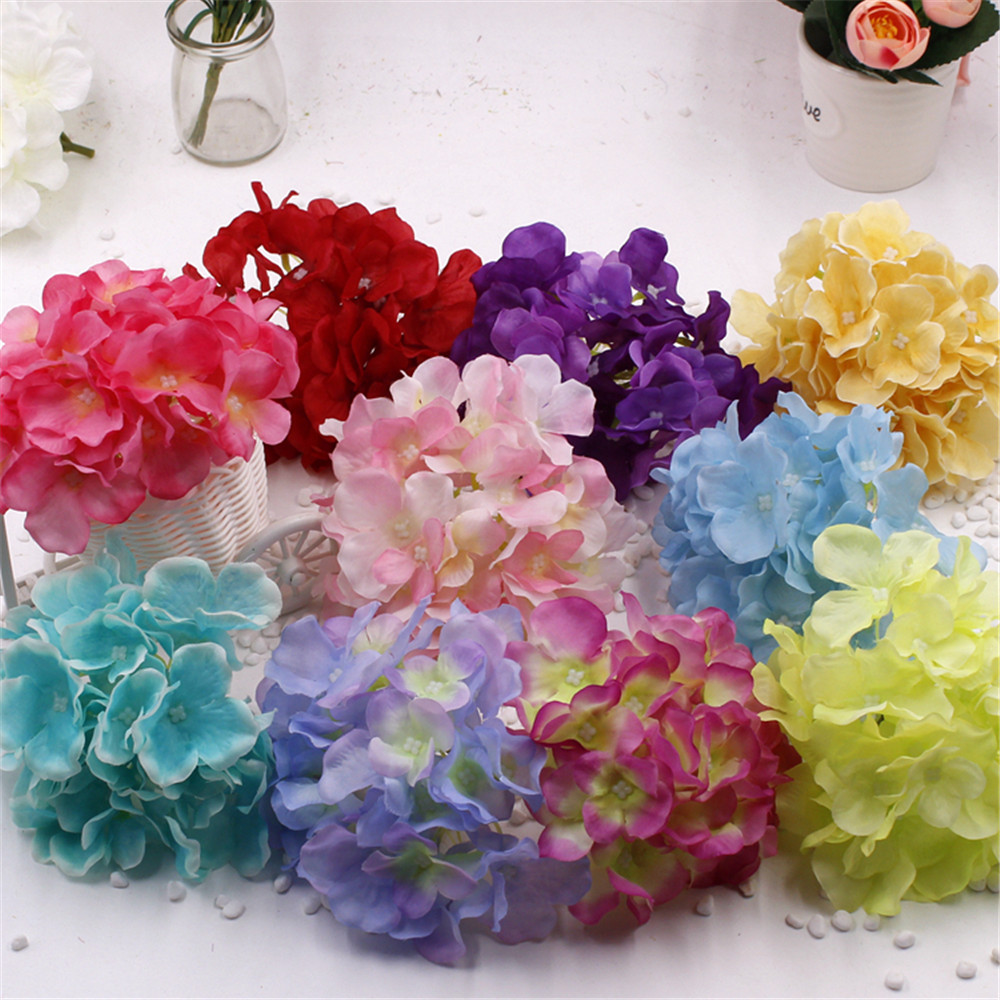 Silk hydrangea real touch flowers flower bouquet for wedding home silk hydrangea real touch flowers flower bouquet for wedding home party living room decoration mariage flores bride bouquet rosa in artificial dried izmirmasajfo
