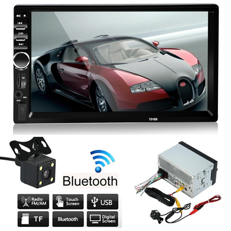 Auto 2 Din Car Mp5 Player HD 7 Inch Touch Screen USB Mp3 Bluetooth Hands Free Call 12V Car Radio Mp5 Player Rear View Camera