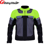 Riding Tribe Motorcycle Summer Jacket Protector Motocyclist Moto Rider Body Guards Breathable Waterproof Clothing JK 42