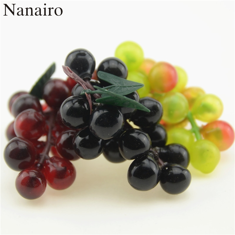 3pcs lot artificial fruit grapes plastic fake decorative for Artificial fruit for decoration