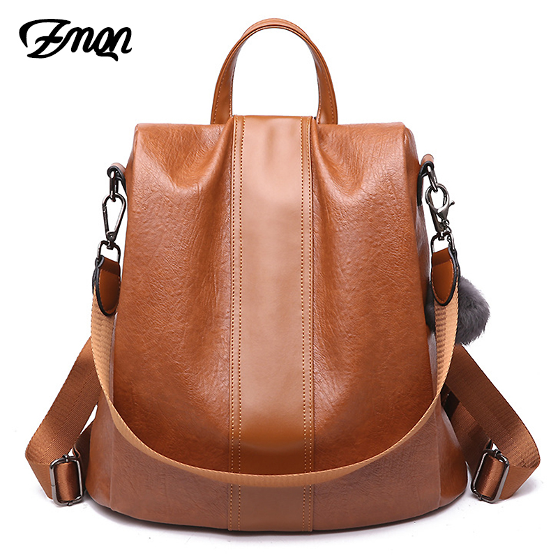 Zmqn Backpack Bag For Women School Bag Ladies Anti Theft Backpack For Teenage Girl Vintage Leather Rucksack Bagpack Bookbag