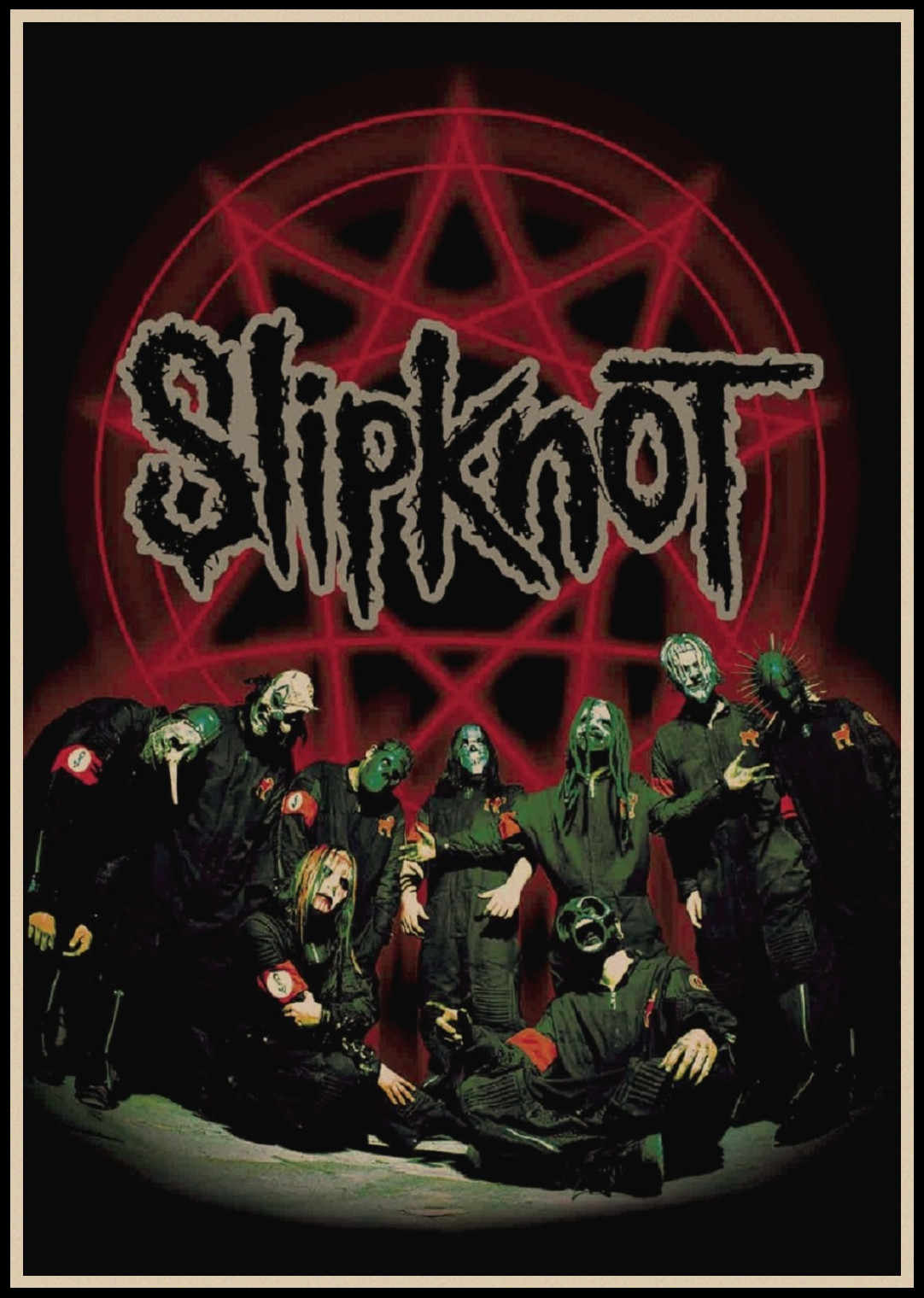 Slipknot Heavy Metal poster ROCK BAND kraft paper Posters bar poster Wall  stickers Retro Poster decorative painting A1