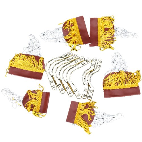 JHO-Pool Table Cotton Nets Pockets with Fringe Brass Irons for Children
