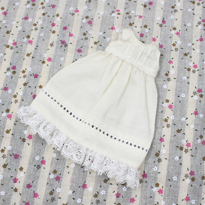 Neo Blythe Doll Cream Sleeveless Dress & Cropped Trousers