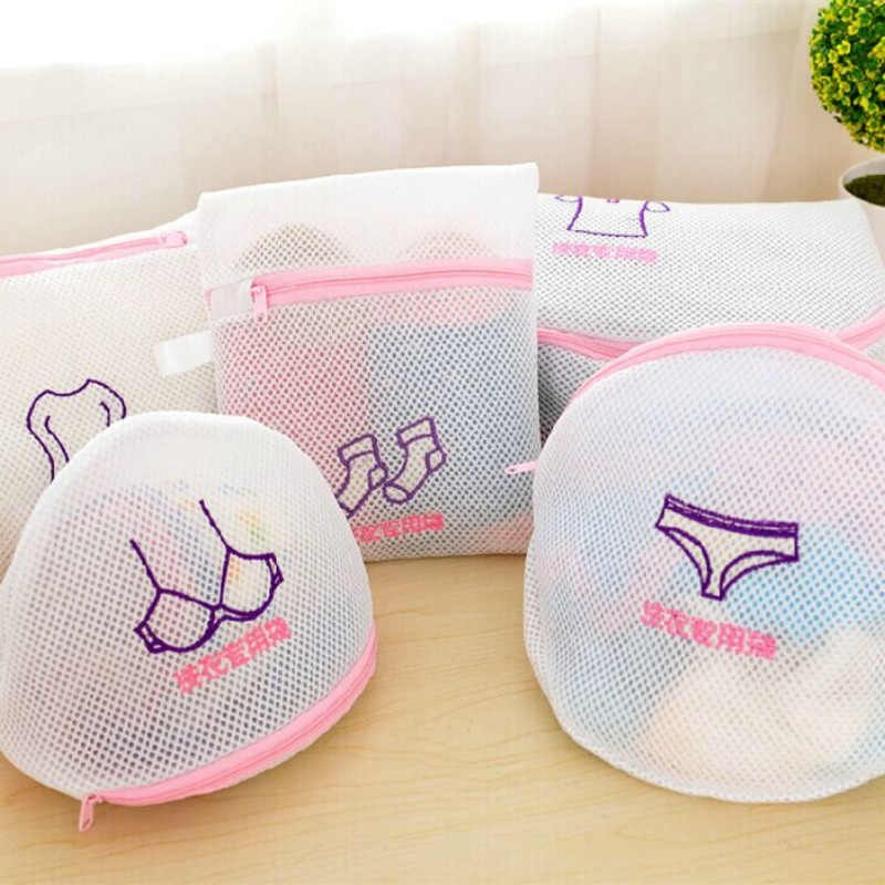 Laundry Bag Washing Home Use Mesh Clothing Underwear Shirt, Underwear, Socks, Coat Organizer Washing Bag Useful Mesh Net Bra Was