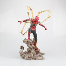 Avengers Marvel Spider-Man Heroes Expedition Hand Action Character Model Pvc Base Collection Edition Model 28cm marvel steel chivalrous limit edition spider bat hand do pa change superman die paternity can action figure schoolboy gift