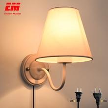 Luz LED moderna de pared con enchufe Luz de pared LED, protección para los ojos, lámpara de lectura y estudio, aplique para interiores, dormitorio, pasillo, ZBD0021