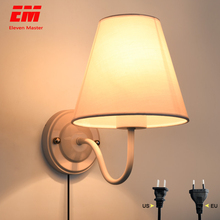 Modern LED Wall Light with plug LED Wall Light Eye Protect Reading Study Lamp Indoor Sconce For Home Bedroom  Corridor ZBD0021
