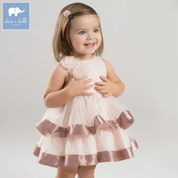DBM7002 dave bella summer infant baby girl's princess dress children birthday party wedding dress kids lolital clothes
