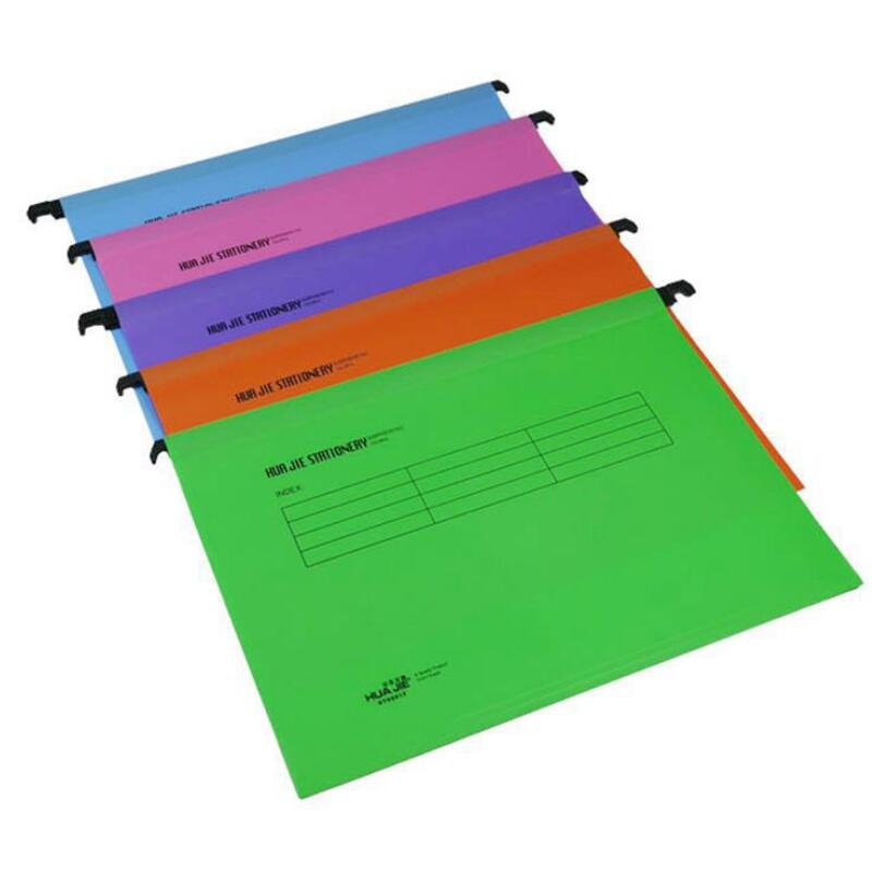 New 12pcs/pack A4 Extra Capacity Reinforced Hanging Folders Fast Hanging Clip Category Tags Find Fast for Business Office-in File Folder from Office & School Supplies