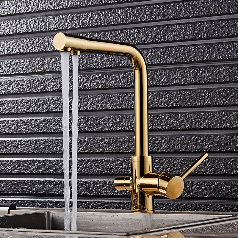 Kitchen Faucets Dual Function 3 Way Water Filter 7 Colors Kitchen Faucet Marble Pure Water Kitchen Faucet Filler Taps Torneira