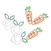 YHYS 10 teile/satz Kawaii Metall Gemüse Karotte Rettich Clips Obst Notizen Ordner Nachricht Foto Papier Clip Schreibwaren Memo Clips-in Home Office Aufbewahrung aus Heim und Garten bei