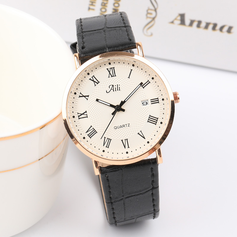 2018 Top Brand Retro Classic Fashion Lovers Quartz Watch Men Women Watches Leather Band Quartz Analog Wrist Watch Clock Female retro hollow number style pu leather band women s quartz analog wrist watch bronze red 1 x 377