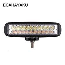 ECAHAYAKU 6 inch 60W  LED Work Light Bar 2 Row for Jeep Off-road Trucks ATV 4WD 4X4 Barra Drive Fog Lamp Spot Flood Beam 12V 24V цена 2017