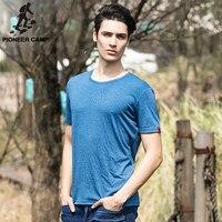 Pioneer Camp 2016 Summer New Men T Shirt Elasticity Solid Short Sleeve T Shirt Mens O