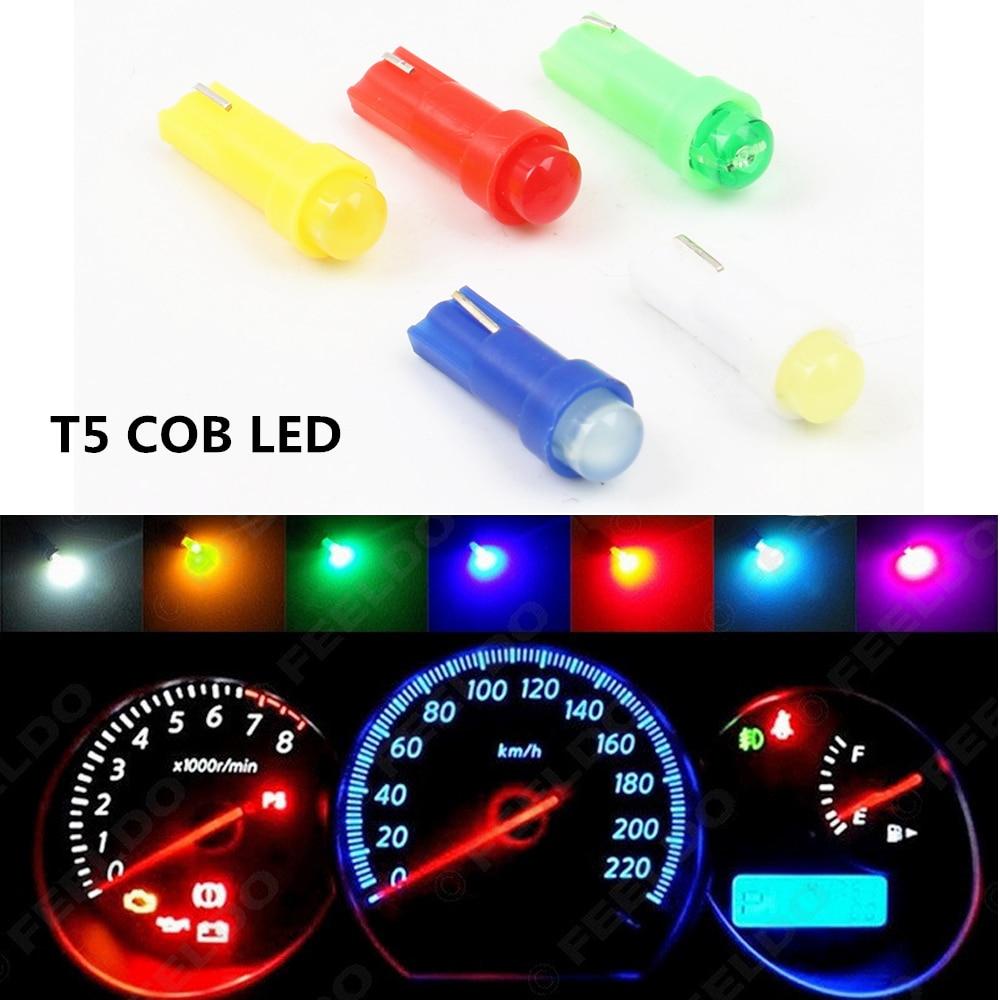 10PC T5 LED Car Auto LED 3SMD Wedge LED Light Bulb Lamp dash board Instrument