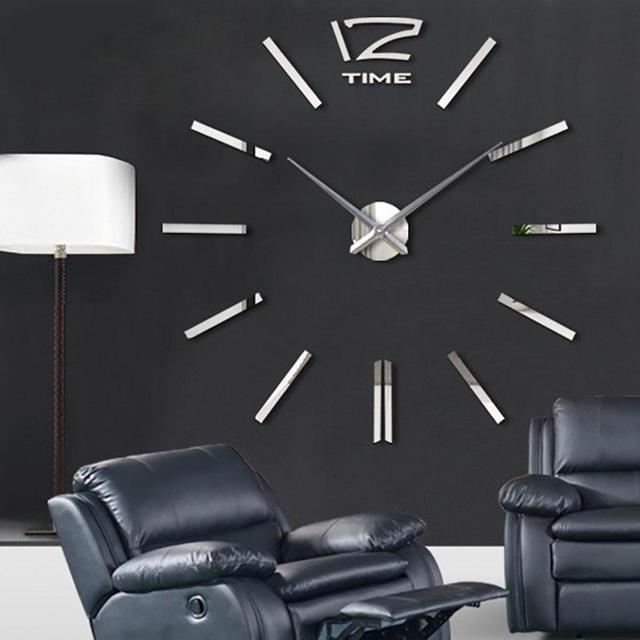 gran arte diseo diy d de interiores casa moderna decoracin espejo pegatinas eva colgando espejo reloj