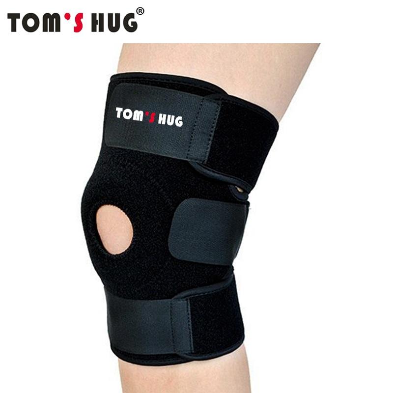 1 piezas deportivo ajustable proteger soporte Tom abrazo de marca transpirable rodilleras aliviar la artritis lesión vendaje rodilla guardia