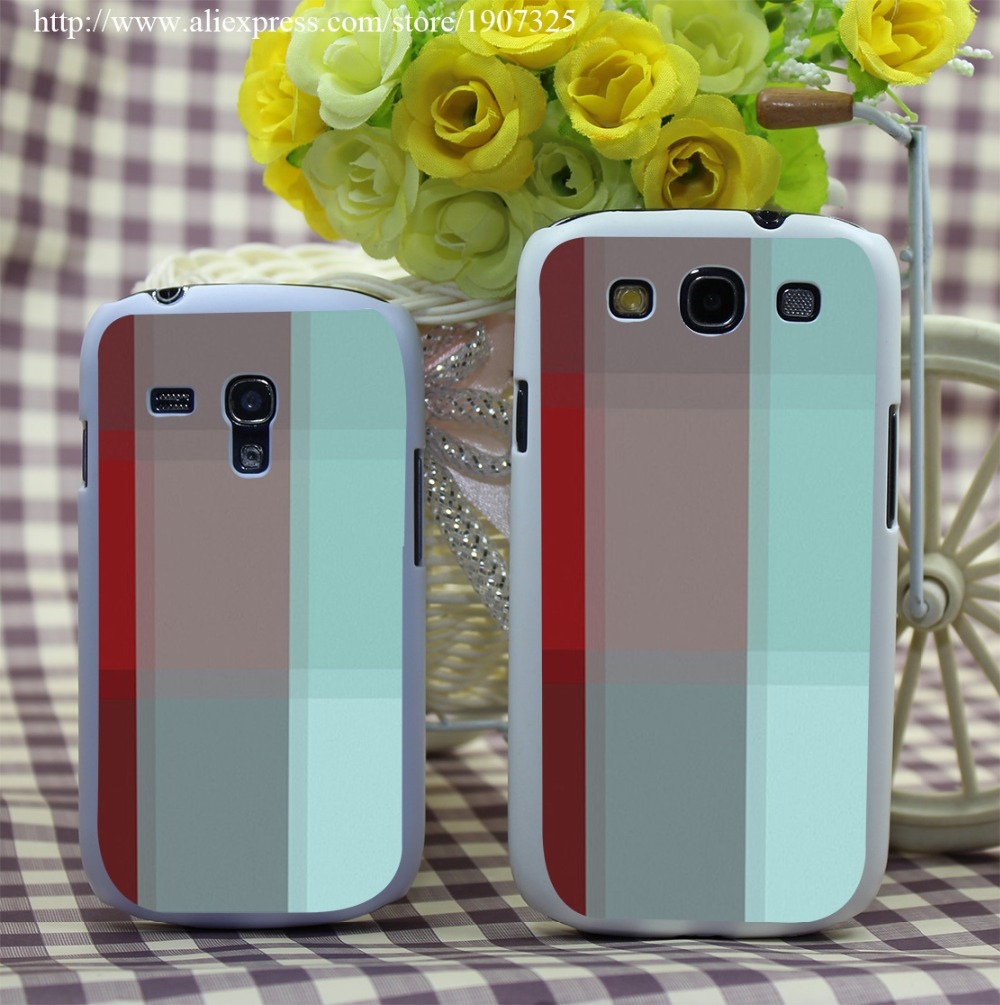 419P Burgundy font b Tartan b font Style Hard White Case Cover for Galaxy S3 S3