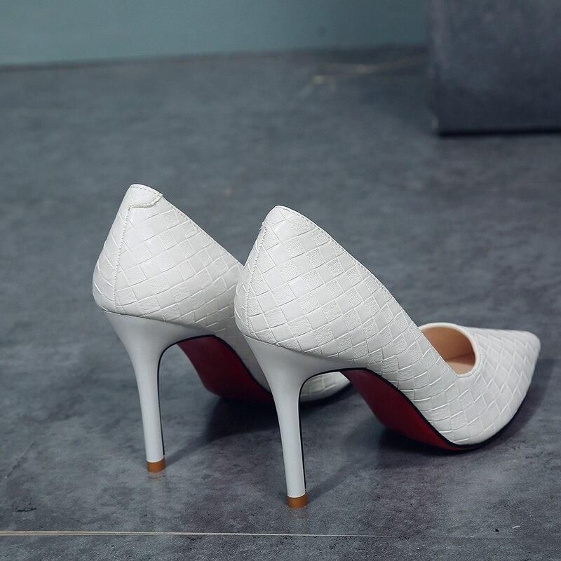Marca Diamante La Inferior Mujeres Señaló Boda blanco Alta Mujer Damas De 2019 Diseñador Negro Tacones Zapatos Rojo Zapatos IEqtUU