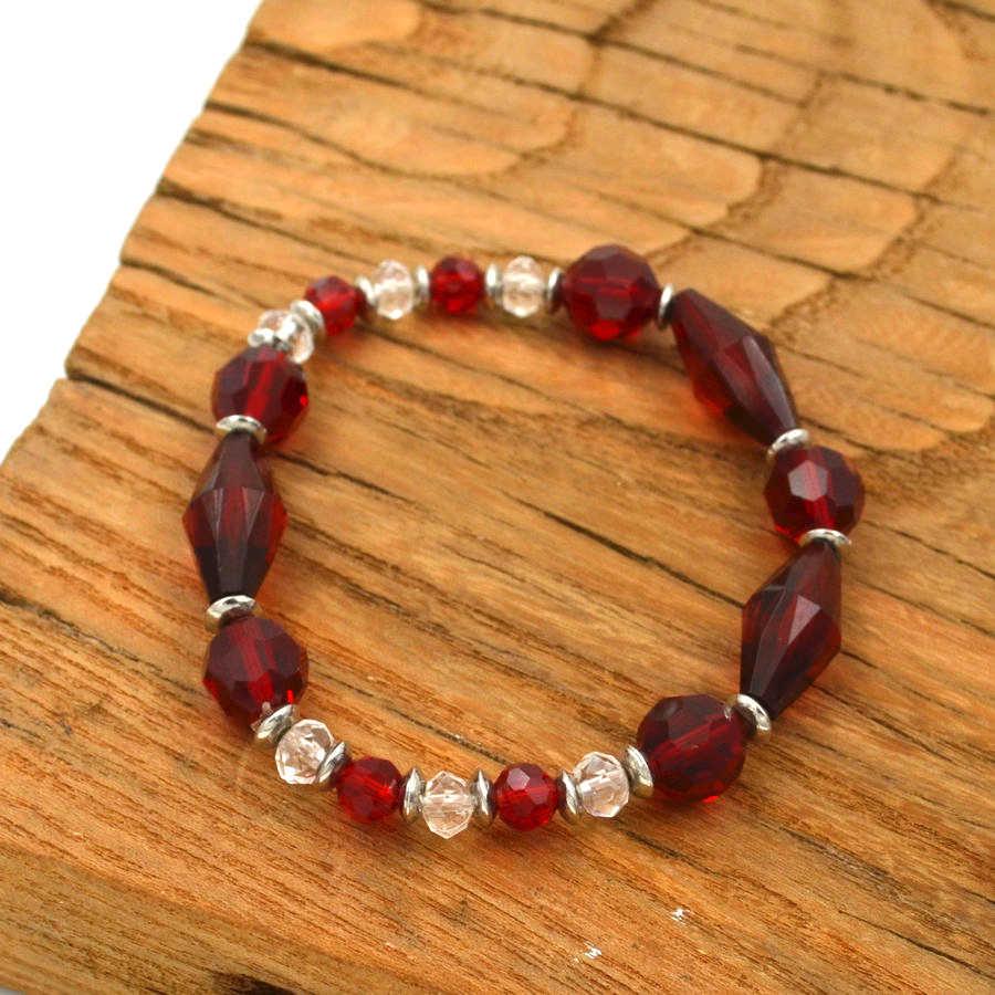 BIGBING jewelry red crystal beads stretch bracelet fashion bracelet good quality nickel free  R086