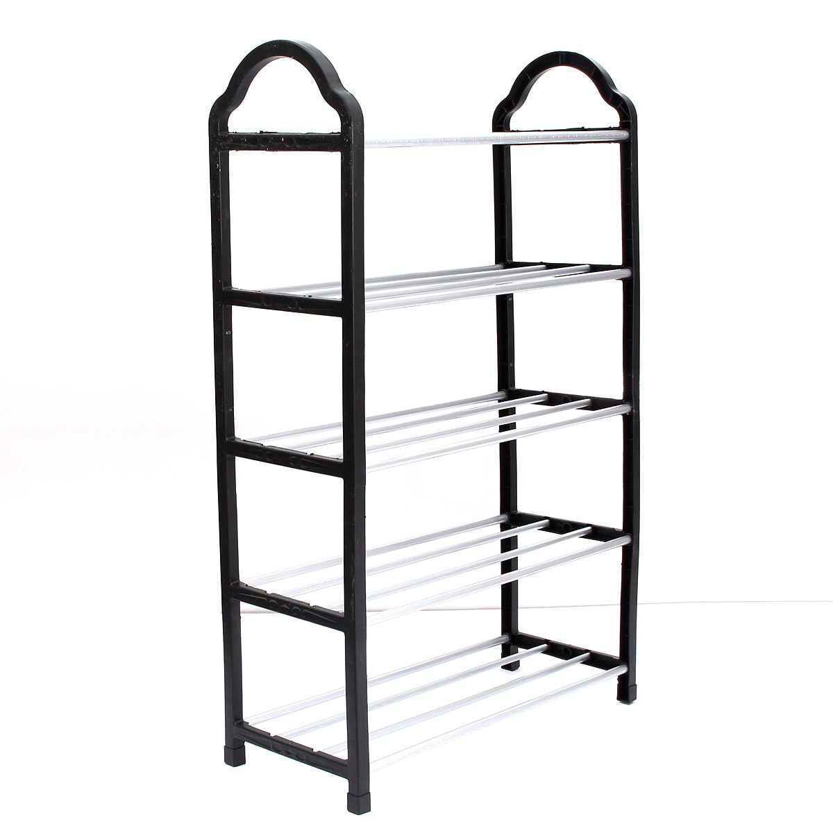 PHFU 5 Tier Home Storage Organizer Cabinet Shelf Space Saving Shoe Tower Rack Stand Black nocm shoe rack free standing adjustable organizer space saving black 6 tier