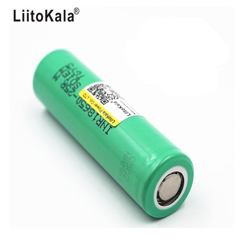 5PCS/Liitokala 100% Original inr 18650 Rechargeable Battery 2500mAh 20A Discharge Used in Rechargeable Battery