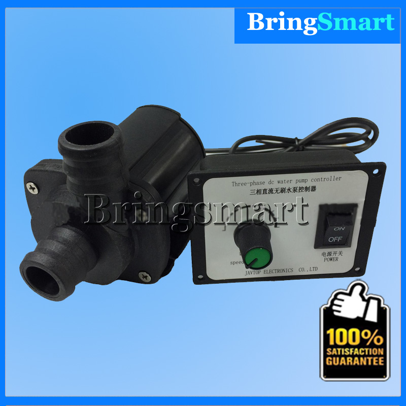 Free shipping JT-1000A3-24 2000L/H 12V 3000L/H 24v Mini DC Brushless Booster Pump 3 phase Adjustable Speed Water Pump Bringsmart jt 800b 900l h 7m booster pump 12v dc brushless water pump submersible fountain self priming pump 24v