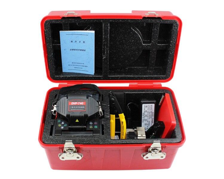 DVP-740 Numérique fibre Optique Arc Épissurage pour FTTx FTTH câble de raccordement, Avec couperet en fibre optique
