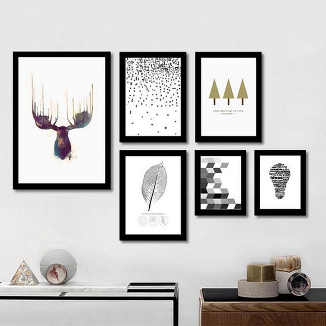 Abstract Canvas Paintings Nordic Art Minimalist Deer Posters And Prints Wall Pictures For Office Living Room