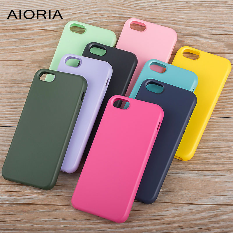 AIORIA Matte case for iPhone 5 5S SE silicone TPU material 1.2mm thickness tough covers bright
