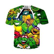 Teenage Anime Mutant Ninja Turtles Printed t shirts Kids Cartoon Rick Morty T-shirt boys super hero Mikey 3D print cosplay shirt 2015 comics teenage mutant ninja turtles wallet dollar price purse pu tide men women boys girls wallets for young students w020