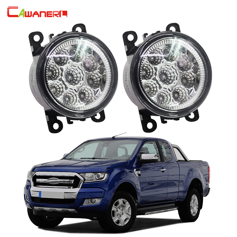 Cawanerl 2 X Car LED Daytime Running Light DRL Fog Lamp 12V DC Car Styling High Quality For Ford Ranger 2012-2015