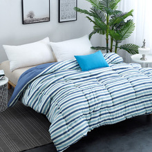Four seasons available, polyester fabric filling with polyester comfortable warm quilt Queen Full Twin size