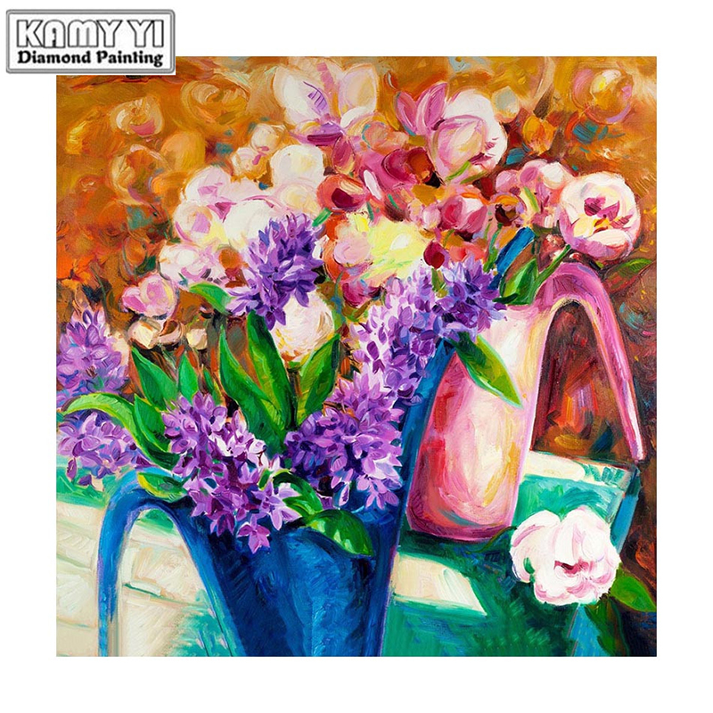100% Full 5D Diy Daimond Painting Diverse bouquets 3D Diamond Painting Round&Square Rhinestones Painting Embroidery D3