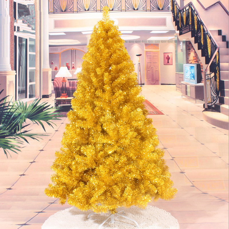 New year christmas 1 8 m 180cm gold christmas tree for 180 degrees christmas decoration